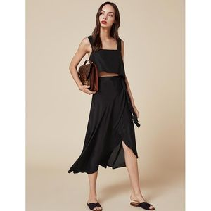 be65026c1d2000 Reformation Skirts - Reformation Newman skirt black wrap skirt size XS